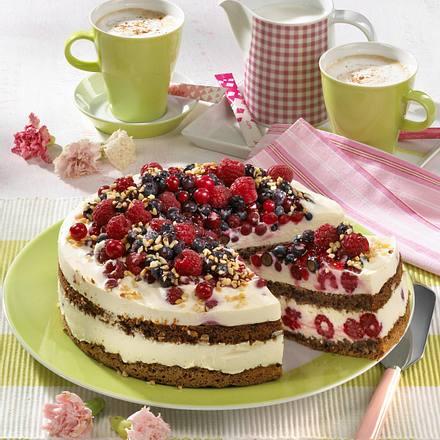 Himbeer-Nuss-Torte Rezept