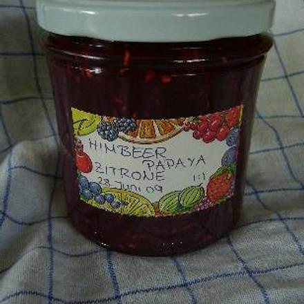 Himbeer-Papaya-Marmelade Rezept