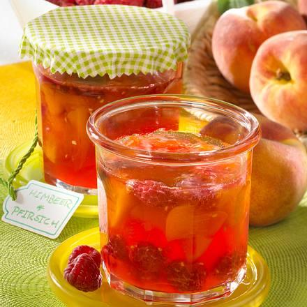 Himbeer-Pfirsich-Marmelade Rezept