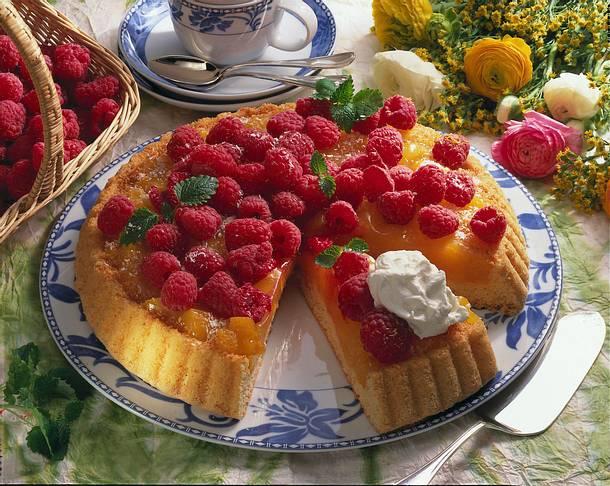 Himbeer-Pfirsich-Torte Rezept