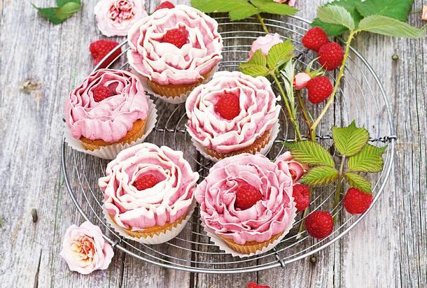 Himbeer-Röschen-Cupcakes Rezept