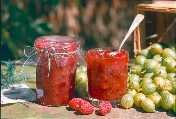Himbeer-Stachelbeer-Konfitüre Rezept