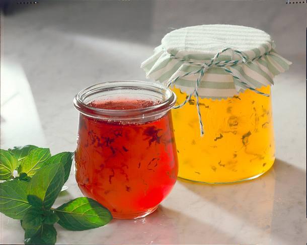 Himbeergelee mit Minze Rezept