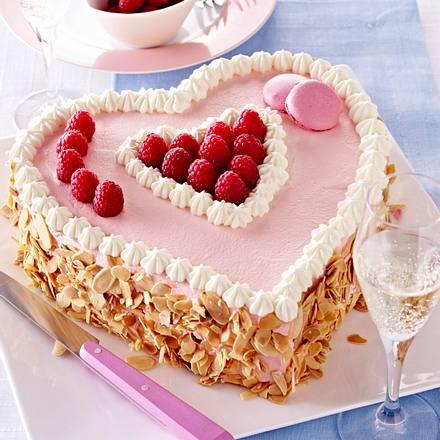 Himbeerherz Torte Rezept Lecker