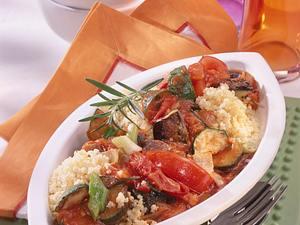 Hirse und Ratatouille-Gemüse Rezept