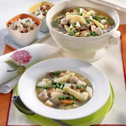 Hochzeits-Suppe mit Spargel Rezept