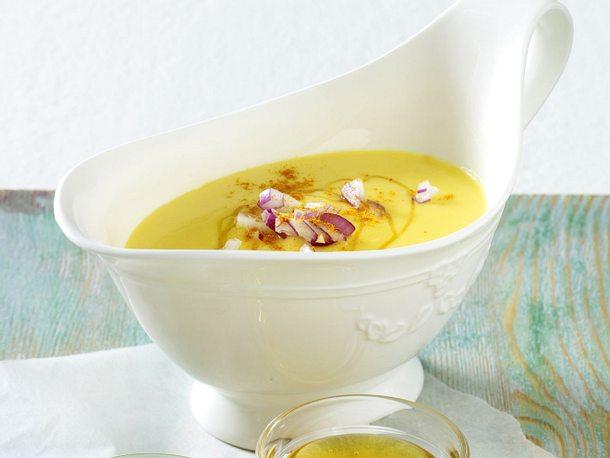 Hollandaise mit Honig, Senf und roten Zwiebeln Rezept