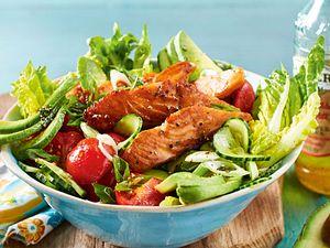 Honig-Balsamico-Lachs im Salatbett Rezept
