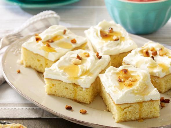 Honig-Blondies Rezept