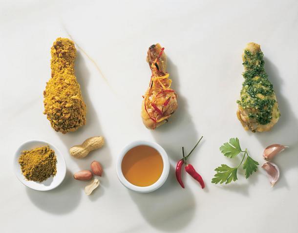 Honig-Chili-Würze (Dreierlei Würzpanaden für Hähnchenkeulen) Rezept
