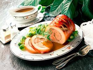 Honig-Schweinerollbraten Rezept