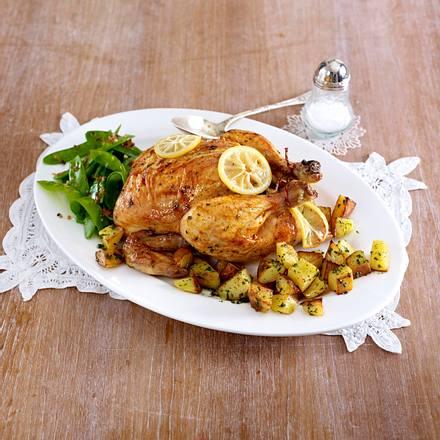 Honig-Zitronen-Huhn mit Kartoffelwürfeln  Rezept