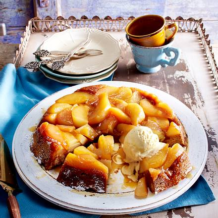 Honigkuchen-Tarte-Tatin mit Birnen Rezept