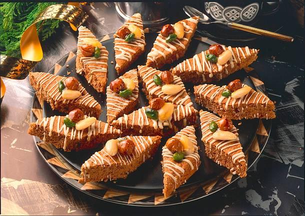 Honigkuchenrauten mit Nüssen Rezept