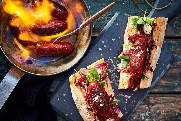 Hot-Chorizo-Sandwich Rezept
