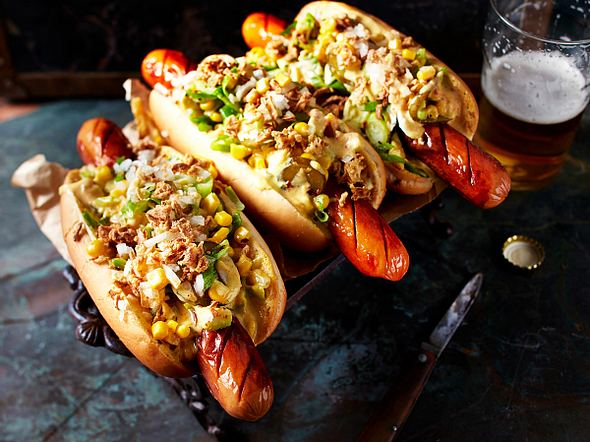 Hot-Curry-Dogs Rezept