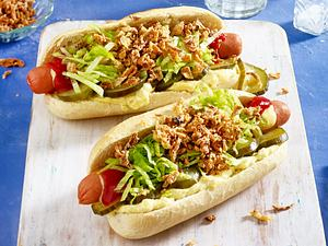 Hot-Dog Baguette Rezept