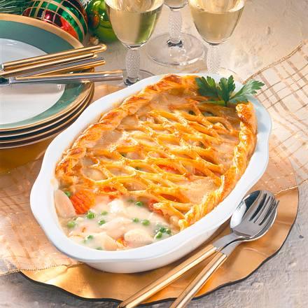 Hühner-Frikassee mit Blätterteig-Gitter Rezept