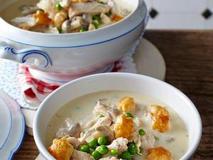 Hühner-Frikassee-Suppe Rezept