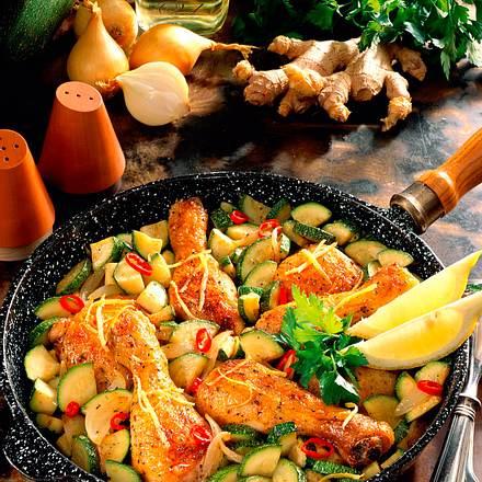 Hühner-Zuchini-Pfanne Rezept
