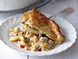 Hühnerfrikassee-Pie Rezept