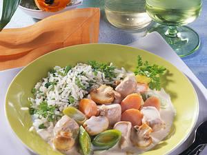 Hühnerragout mit Kräuterreis (Diabetiker) Rezept