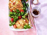 Hütenkäse-Taler mit Salat Rezept