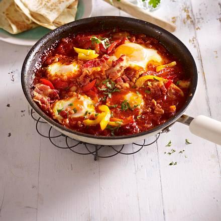 Huevos rancheros (Gemüsepfanne mit Spiegeleiern) Rezept