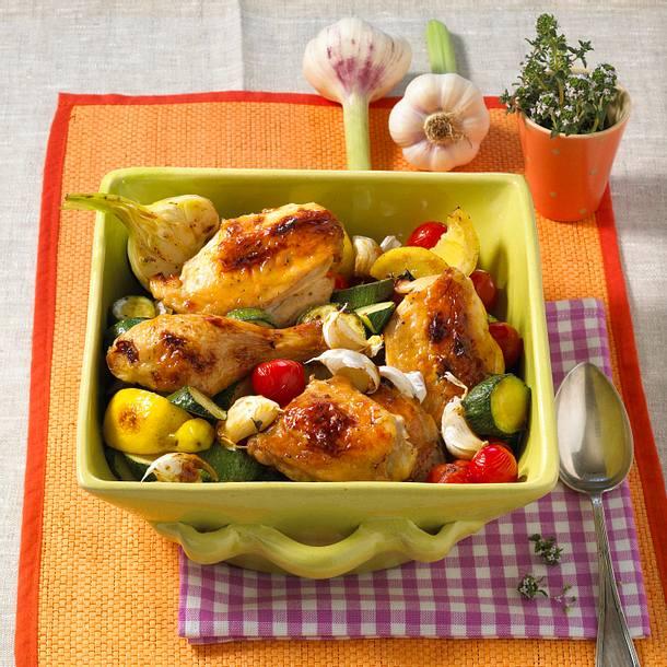 Huhn mit 40 Knoblauchzehen Rezept