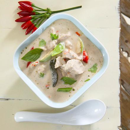 Huhn mit rotem Curry Rezept