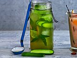 Iced Matcha mit Gurke Rezept
