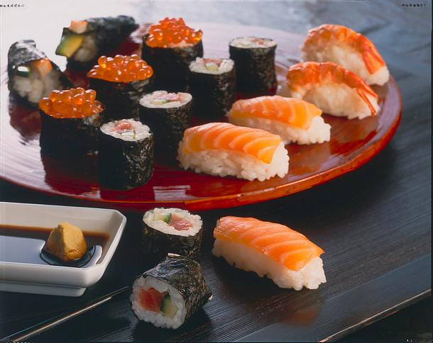 Ikura-Sushi (Sushi mit Lachsrogen) Rezept