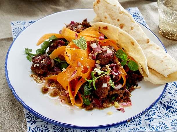 Indischer Karottensalat mit Lammhack Rezept