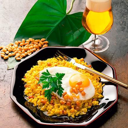Indischer Reis mit Erdnüssen Rezept
