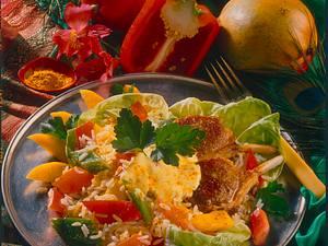 Indischer Reissalat mit Lammstielkotelett Rezept