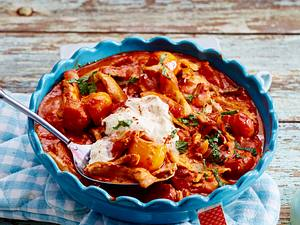 Indisches Hähnchen in Tomaten-Creme-Soße Rezept