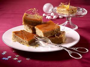 Ingwer-Honigkuchen mit Karamell-Guss Rezept