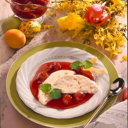 Ingwer-Parfait mit Kirschsoße Rezept