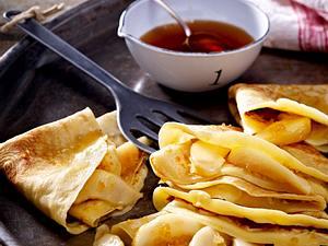 Ingwer-Pfannkuchen mit Birnen und kandiertem Ingwer Rezept
