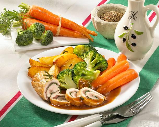 Involtini in Balsamicosoße mit Gemüse Rezept