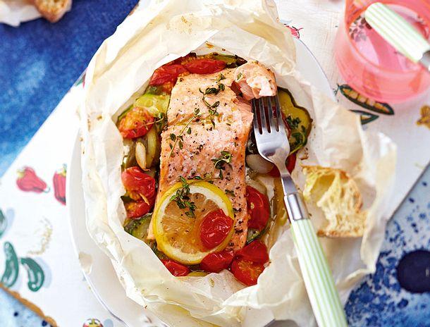 Iss doch Lachs aus dem Ofen Rezept