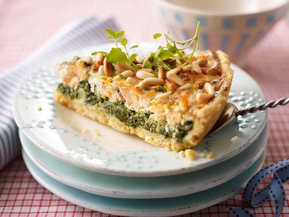 Italienische Lachs-Spinat-Quiche Rezept