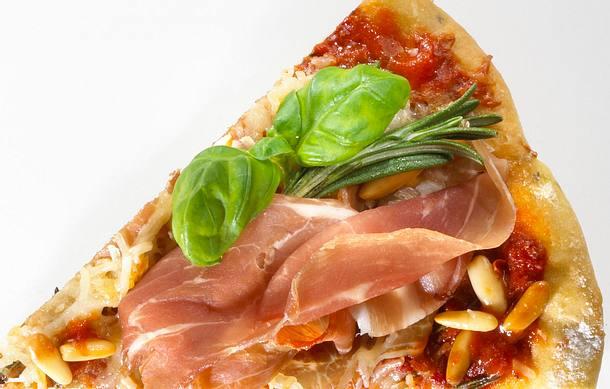 Italienische Parmaschinken-Pizza Rezept