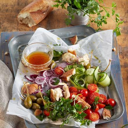 Italienische Salatplatte für den Feierabend Rezept