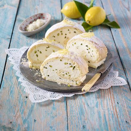 Italienische Zitronen-Biskuitrolle Rezept