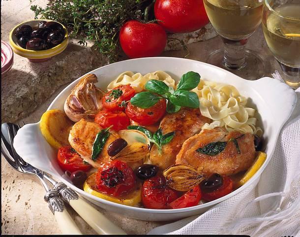 Italienisches Tomaten-Hähnchen Rezept
