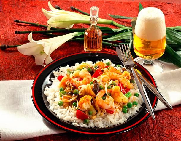Jasmin-Reis mit China-Gemüse Rezept