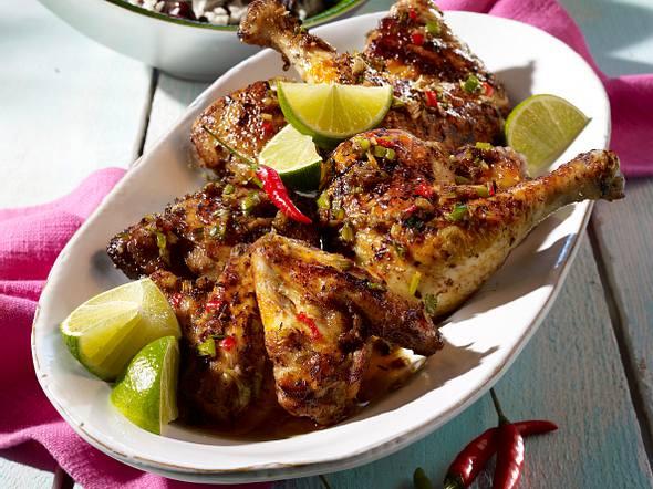 Jerk Chicken mit Bohnenreis Rezept
