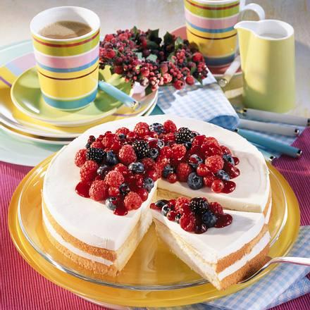 Joghurt-Beeren-Torte (Diabetiker) Rezept