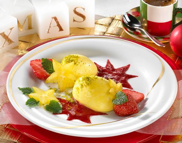 Joghurt-Mousse mit Erdbeermark Rezept